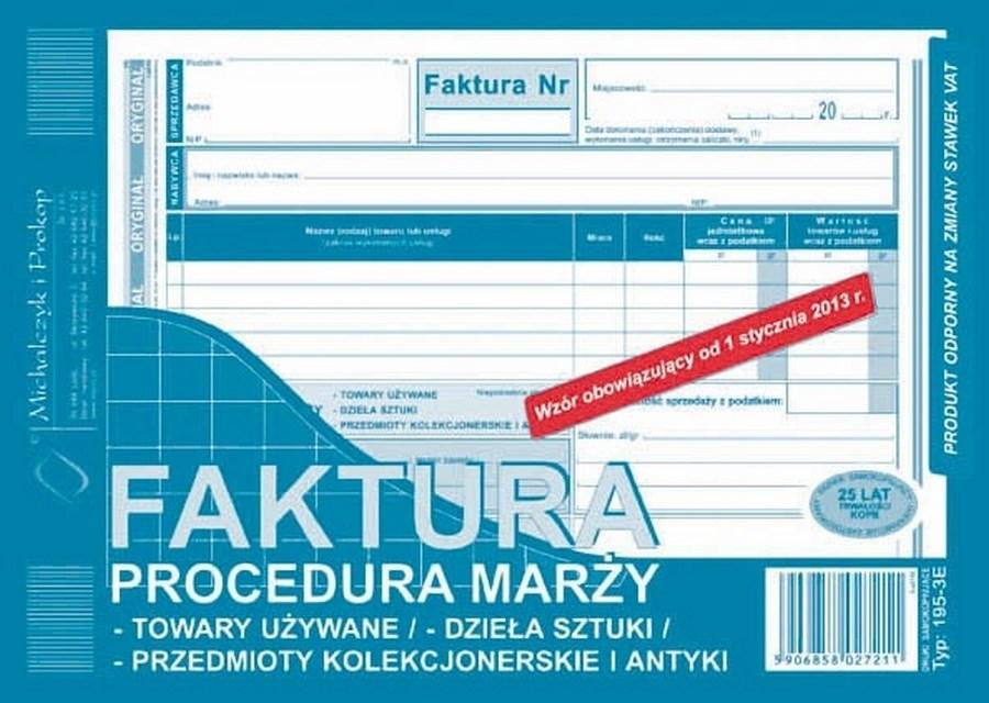 Druk Faktura Vat Procedura Marży A5 195 3e